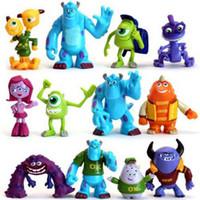 Wholesale New Item Set Monsters Inc Monsters University Wazowski Mike sullivan sulley sullivan PVC Action Figure