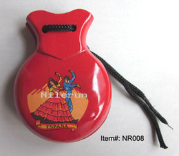 learning & education intelligence toy shiny red Spanish dance wooden castanets