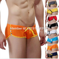 Wholesale New Brand Wang Jiang Men s Swim Shorts Snap Button Swim Trunks Swimwear BL1PJ