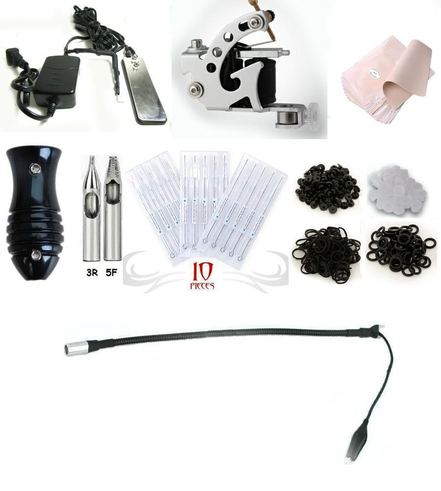 Wholesale tattoo machine equipment set starter kit 1 guns for Cheap tattoo kits amazon