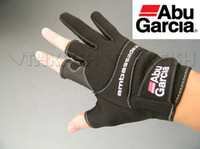 abu gloves - Free Air Post Abu Garcia Gloves Cut Finger Gloves Anti water water proof Black Fishing Gloves