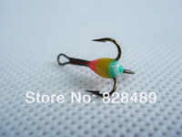 antron yarn - Ice Fishing Treble Hook With Antron Yarn Feather Winter Fishing Mustad Hook