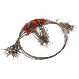 Vente en gros-20pcs matériel de pêche 2 bras en acier inoxydable fil pivotant Leader pêcheur