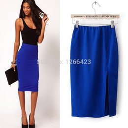 Discount Stretch Midi Pencil Skirt | 2017 Stretch Midi Pencil ...