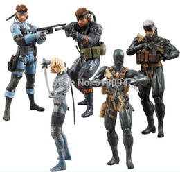 Wholesale set Game Toys Metal Gear Solid Action Figure Solid Snake PVC Figure Toys Dolls set of High Quality Gift MVFG013