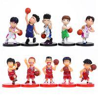 Gros-Anime Slam Dunk PVC Figurines Cadeaux Poupées Boys Toys Doll Noël anniversaire 10pcs / set SDFG008
