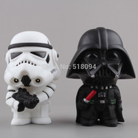 Wholesale Star Wars Stormtrooper Darth Vader Q Version PVC Action Figure Collectible Toys Dolls set SWFG035
