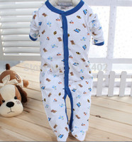 Unisex Spring / Autumn Cotton Wholesale-Next Baby Jumpsuits Next Baby Sleepsuit Pack Soft Rompers 100% Cotton 3pcs pack Long Sleeves Newborn-12M Infant Boy Girl Pajamas