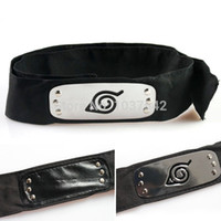 Character anime cosplay accessories - A3HOT ANIME Naruto Headband Leaf Village Logo Konoha Kakashi Akatsuki Members Headband Cosplay Costume Accessories T1459 P