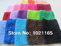 Cheap Wholesale-10pcs lot New Arrival 14cm X 16cm Baby Girl 6Inch Crochet Tutu Tube Tops Chest Wrap Wide Crochet headbands Free Shipping