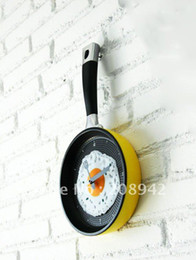 Wholesale Best selling Wall Clock Pan wall clocks Watch Christmas Gift Novelty creative Toy Frying an egg