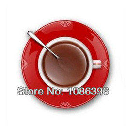 Wholesale Hot sale creative wall clock fried coffee disc shaped clock different colors to choose