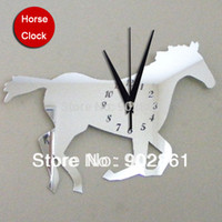 antique horse clocks - funlife x25cm x10in Horse Mirror Stickers Clocks In The Kitchen Decor Wall For Kids Rooms