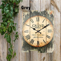 Wholesale Overvalue Retro Vintage Rustic Wall Clock Shabby Chic Home Office Coffeeshop Bar Decor Decoration Best Gift Craft Stylish