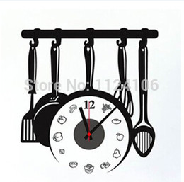 Wholesale Black digital PVC Sticker Abstract wall clock modern design large dart board wall clock