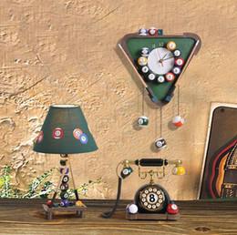 Wholesale RAM Gameroom Billiard Clock Wall Art Billiards Parlour Wall Clock