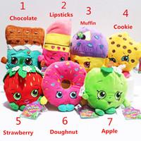 70pcs Shopkins plush toys 16cm Kookie Cookie Strawberry Kiss...