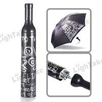 patio umbrella - Hot sale Portable Folding Umbrella Retractable Brolly patio umbrellas Wine bottle Style Tube Black