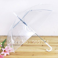 Wholesale Clear Plastic Umbrellas Wholesale - Wholesale-free shipping 100pcs lot promotional clear umbrella,mixed colors supported