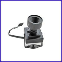 Wholesale Mini CCD TVL Video Color Camera Audio Mic mm Lens SE07