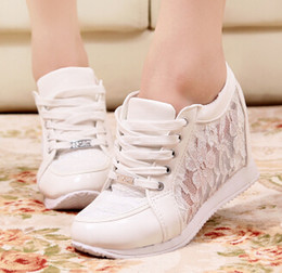 Wholesale wedge high heels sneakers heeled sneaker shoes casual shoe cm platform sapatilhas femininas ladies zapatillas ankle boots heels