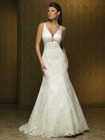 Sheath wedding dresses 2011 - 2011 Wedding Dresses gt gt Spaghetti Wedding Dresses Satin embroider beading