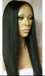 silk straight 1b 18inch Indian Remy Hair full lace wig