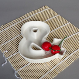wholesale shape ceramic letter candy dishes hot sale wholesale factory price