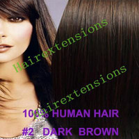 Wholesale Clip in on remy human hair extension quot set g set dark brown set