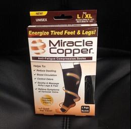 Milagro de cobre calcetines Anti Fatiga cobre calcetines medias de compresión Nuevo S M L XL unisex por el deporte con paquete al por menor DHL directo de fábrica