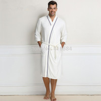bamboo dressing gown - Men s Bathrobes Terry Bathrobe Cotton Towel Pile Loop Dressing Gown for Men Male Bathrobe Men amp Women Bath Robe for Men