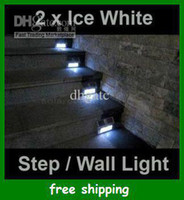 Wholesale solar powered staircase light stainless outdoor step liamps led wall street lights