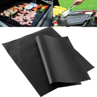 Cheap Wholesale-1pcs Reusable Non-stick Surface BBQ Grill Mat Baking Sheet Portable Easy Clean Outdoor Picnic Camping