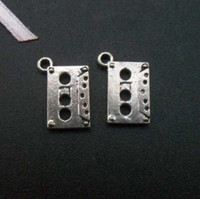 bead tape - Fashion jewelry pendants DIY accessories charms tibetan antique silver small music tape charms for necklace pendant x15mm