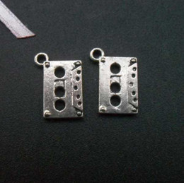 Wholesale Fashion jewelry pendants DIY accessories charms tibetan antique silver small music tape charms for necklace pendant x15mm