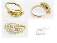 Wholesale Rings Elliptical Pearl Ring Fashion Jewelry Women s Ring China Jewelry Fashion Ring Alloy