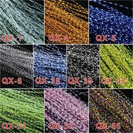 Wholesale-Free shipping 10 colors, fly fishing tying Crystal Flash String JHook Flashing Line fly fishing tying material