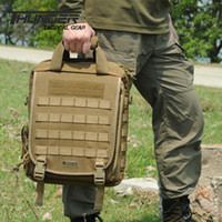 Wholesale Military Vertical Outdoor Laptop Backpack Molle inch Pc Backpack Tactical Shoulder Backpack Tactical Messenger Pack d Briefcase