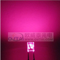 Wholesale High Quality and High lightness x3x4 Rectangular square type pink color led beads brightness600 MCD for backlight