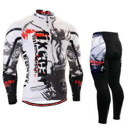 Wholesale FIXGEAR Breathable Non Slip Silicone Band Long Sleeve Cycling Jersey amp Pants Men s Outdoor MTB Bike Bicycle Clothing