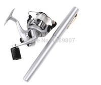 bamboo fishing pole - M Mini Aluminum Pocket Pen Fishing Rod Small Ice fishing Rod Pole Freeshipping