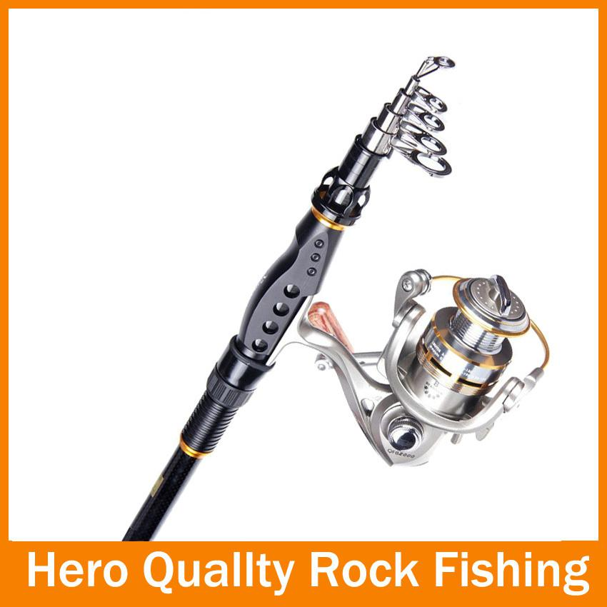 Wholesale hot new 9 sections powerful telescopic for Rocking fishing rod