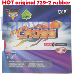 free ship 2pcs original table tennis rubber 729 -2 Ping Pong rubber with sponge red
