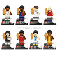 Wholesale World Cup Football Figures Pirlo Ronaldo Neymar Messi Xavi Minifigures Building Blocks Sets Model Bricks Toys