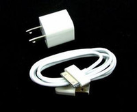 Wholesale 100pcs Wall Ac Charger USB Sync Data Cable for ipod