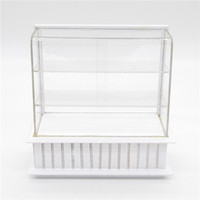 bakery furniture - Miniature White Display Bakery Shop Cabinet Counter Shelving Case Dollhouse Kitchen Toys Furniture Doll Accessories