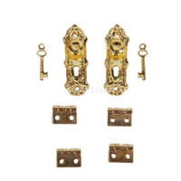 doll house - New Brand New Dolls House Hardware Square hinge amp screws Dollhouse miniature Furniture