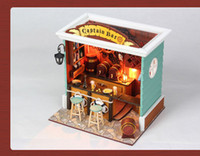 american doll dollhouse - New arrival Captain Bar American Scene doll house educational toy Handmade DIY Assembled model dollhouses with light amp dust