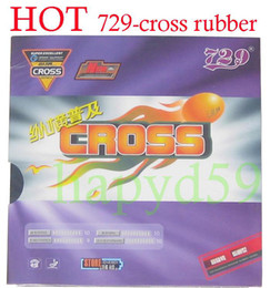 2pcs Ping Pong rubber original 729 popular sedan 729 cross foam T.T. rubber black