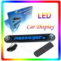 Wholesale Blue Light V LED Car Message Moving Scrolling Sign Display